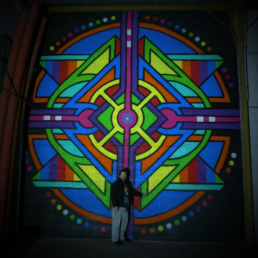 Malakoff cycloff aérosol de peinture sur mur 600x600 cm 2016