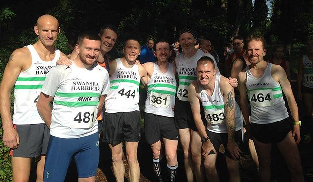 Swansea harriers at Llanmadoc XC