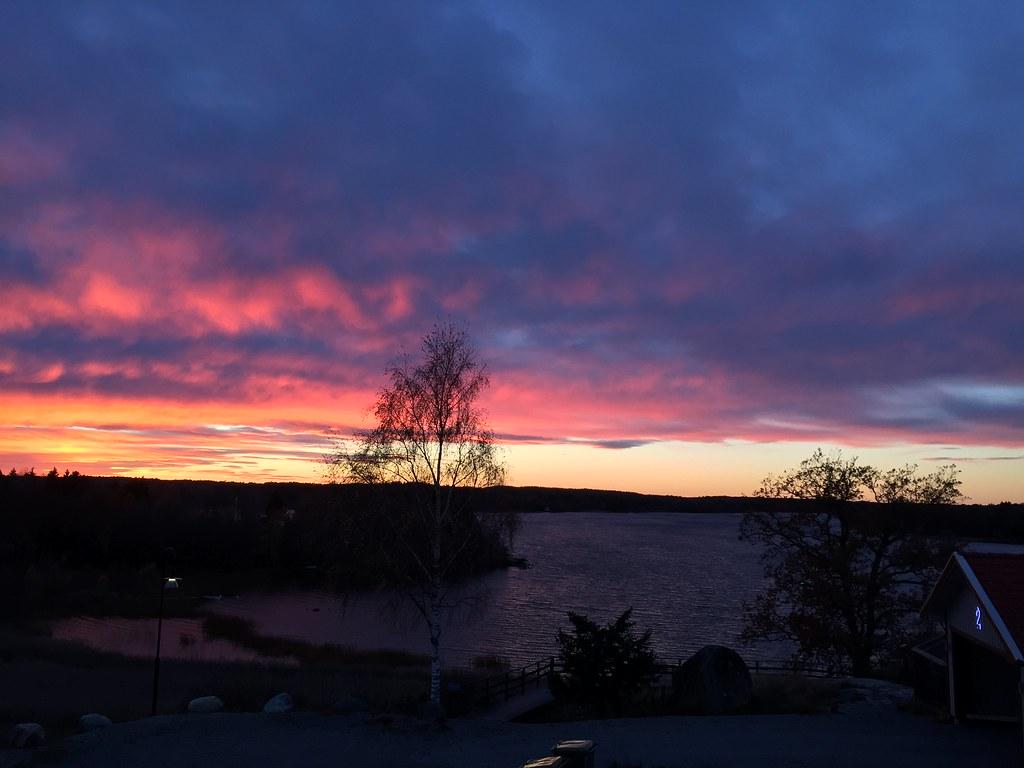 Lördag solnedgång