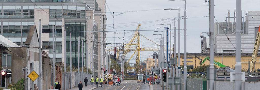 VIEW FROM SPENCER DOCK TRAM STOP [RED LINE LUAS SERVICE]-1237980