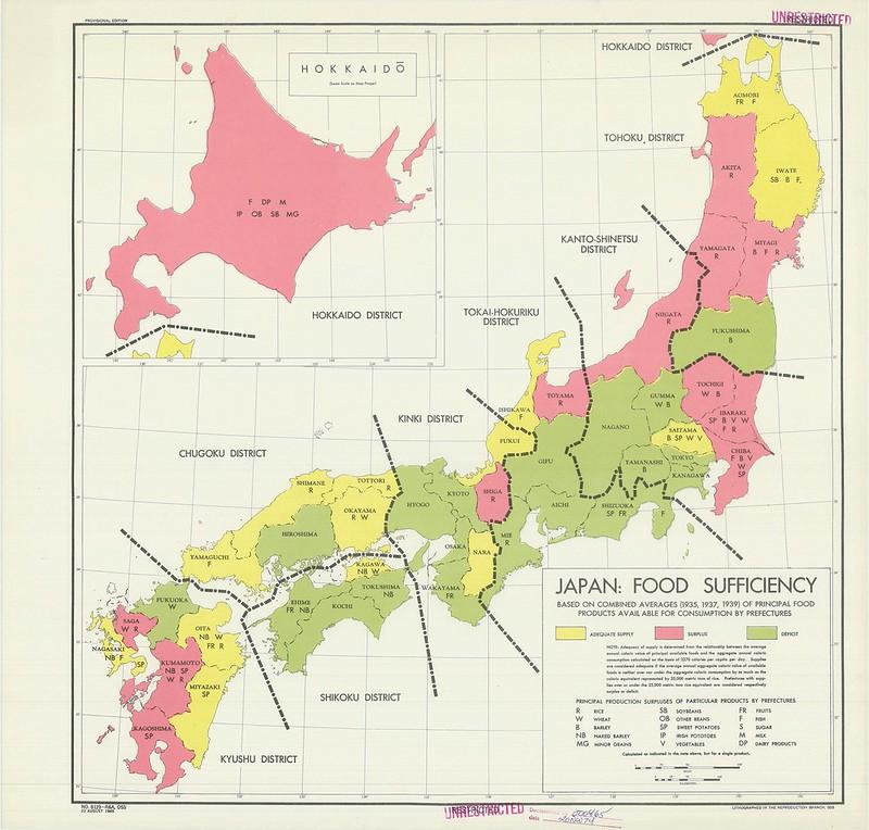 1945 Japan Food Sufficiency