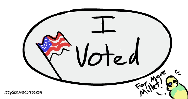 I voted sticker america elections