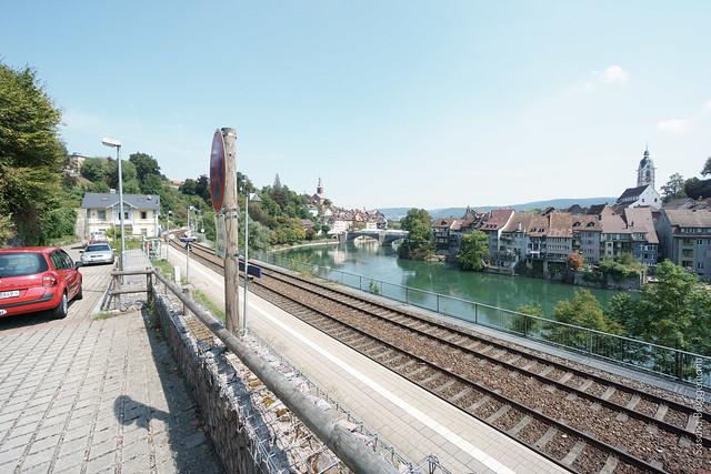 Blick auf beide Laufenburg