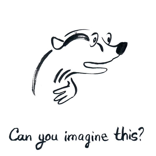 Can you imagine this? #badger #badgerlog #parenting #imaginethat #imaginethis #questionoftheday #questionoftheyear