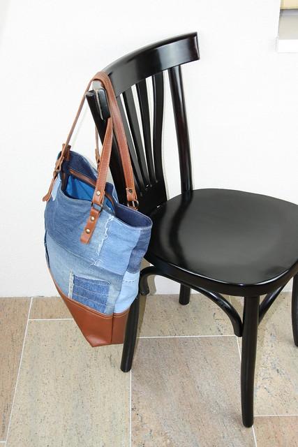 jeans tas, handgemaakt