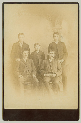 Cabinet Card Five Gentlemen