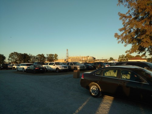 Tiger Stadium and cars
