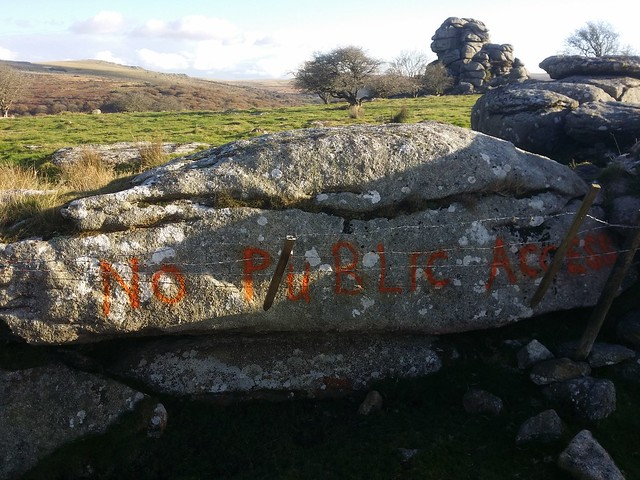 Graffiti damage near Vixen Tor