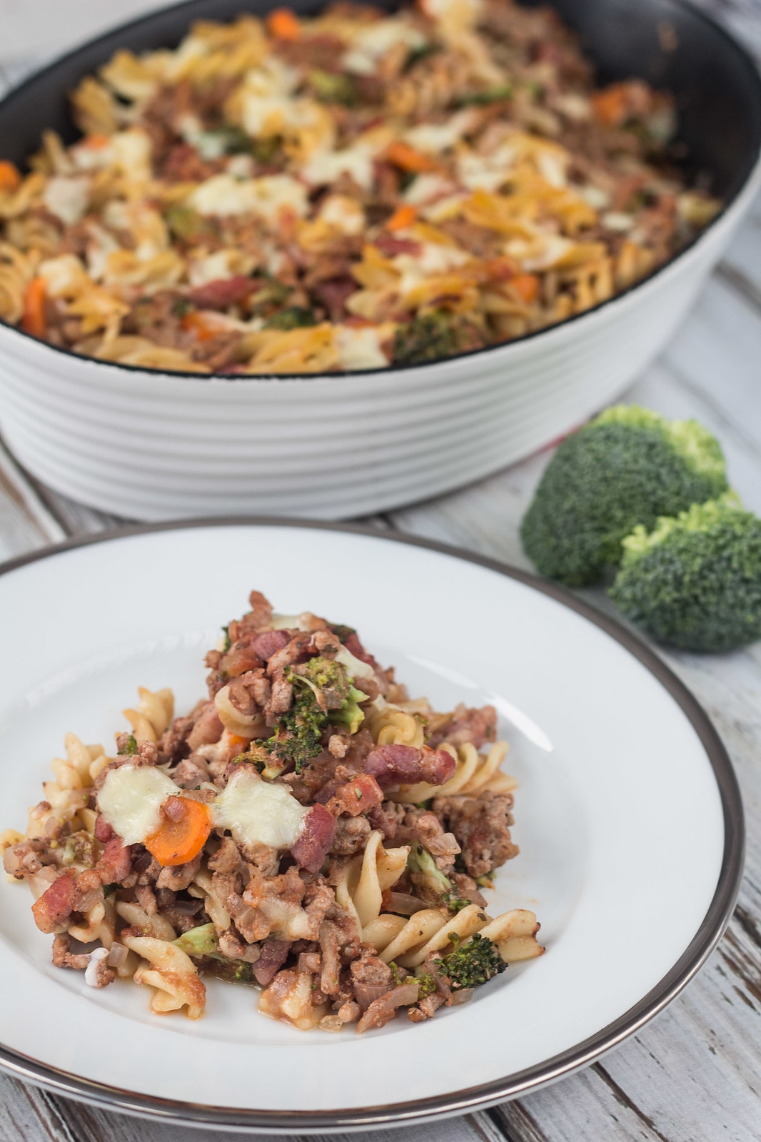 Recipe for a healthy Pork and Bacon Pasta dish