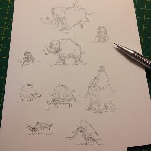 Illustration Friday: Ice sketches