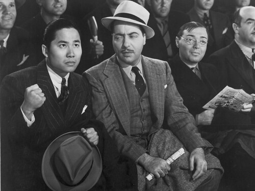 Keye Luke, Harold Huber, Peter Lorre in MR. MOTO'S GAMBLE