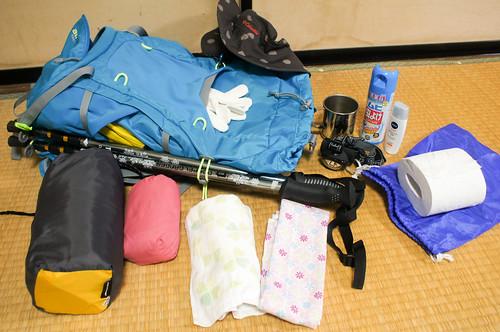 谷川岳での装備