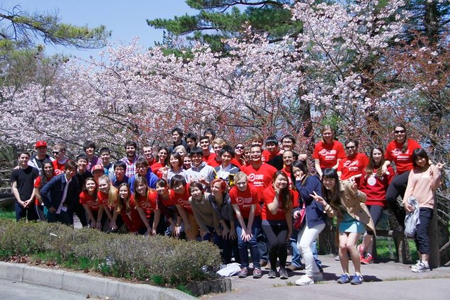 Northeastern student group in Japan
