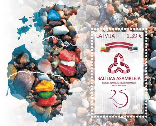 "Pastmarkas bloks ""Baltijas Asamblejai - 25"""
