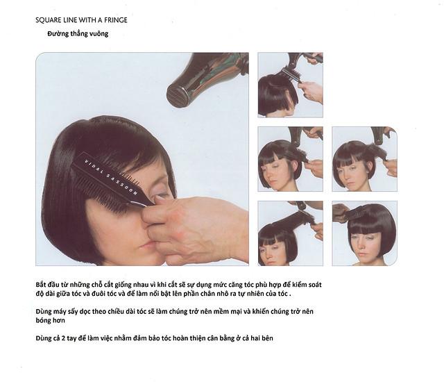 Tìm hiểu về đường thẳng vuông trong cắt tóc Giáo trình Vidal Sassoon