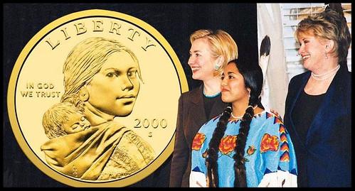 Glenna Goodacre at Sacagawea unveiling