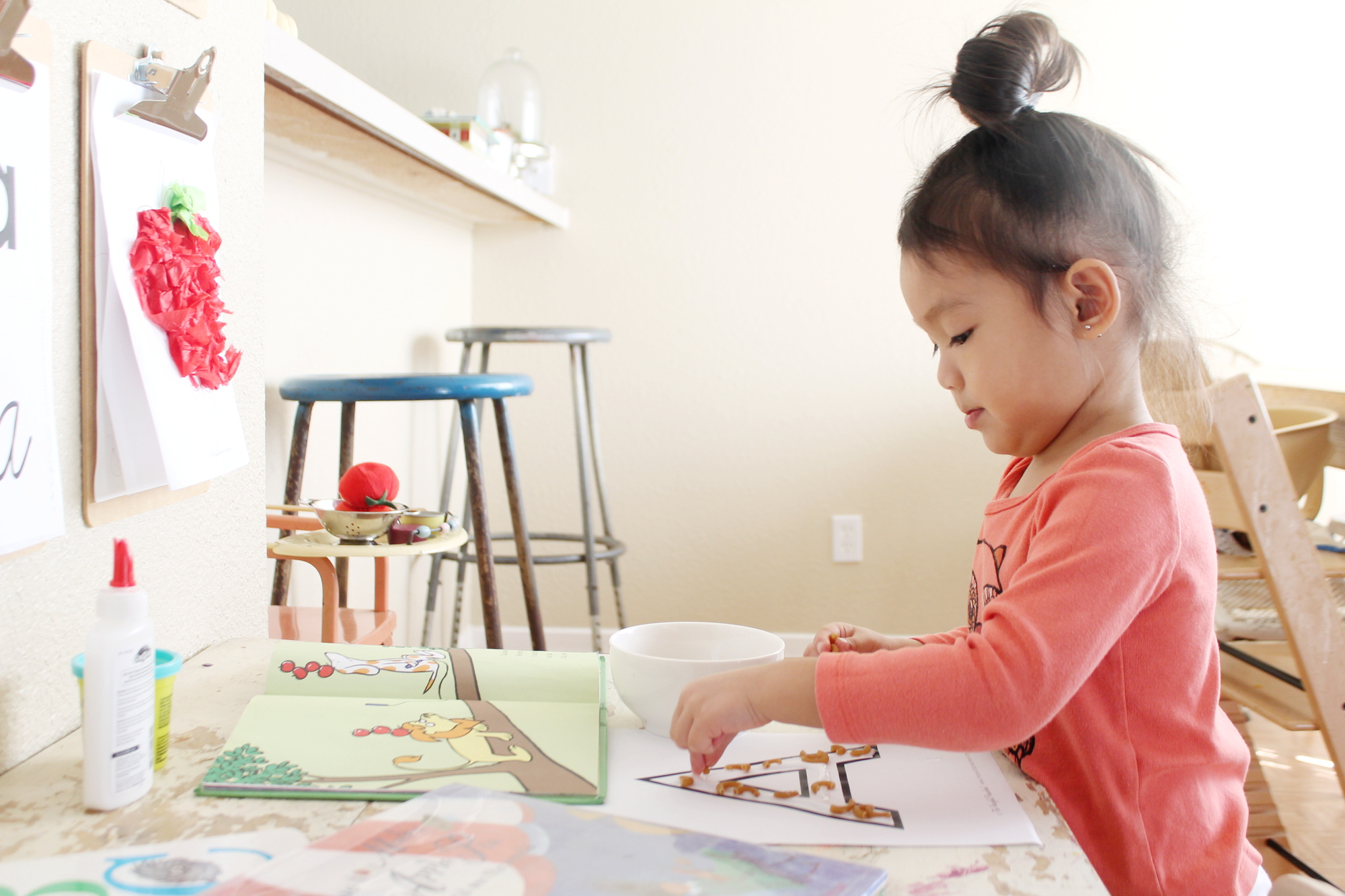homeschooling letter a