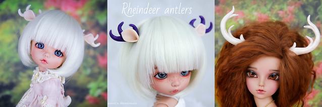 Rheindeer antlers collage