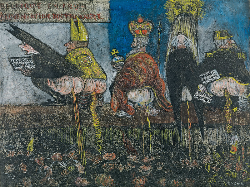 James Ensor - Doctrinal Nourishment, 1889