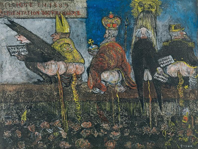 James Ensor - Doctrinal Nourishment, 1889