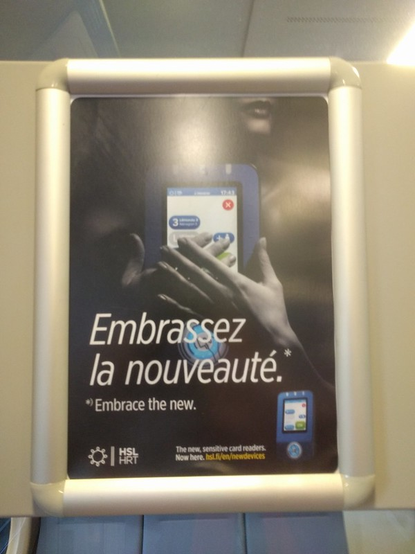 Even the advertisement was in French