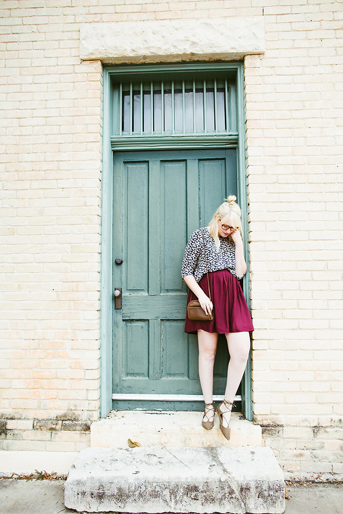 writes like a girl fall outfit colorblock jewel tones12