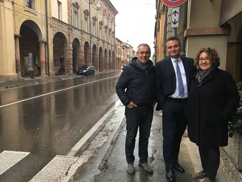 Visita dell'assessore regionale Raffaele Donini e della consigliera regionale Manuela Rontini nel territorio castellano