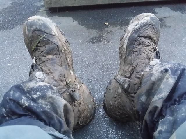 Day 2: No muddy boots at the shut Masons Arms, Knowstone.