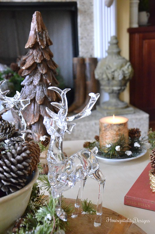 Woodland Christmas Vignette - Crystal Deer - Housepitality Designs