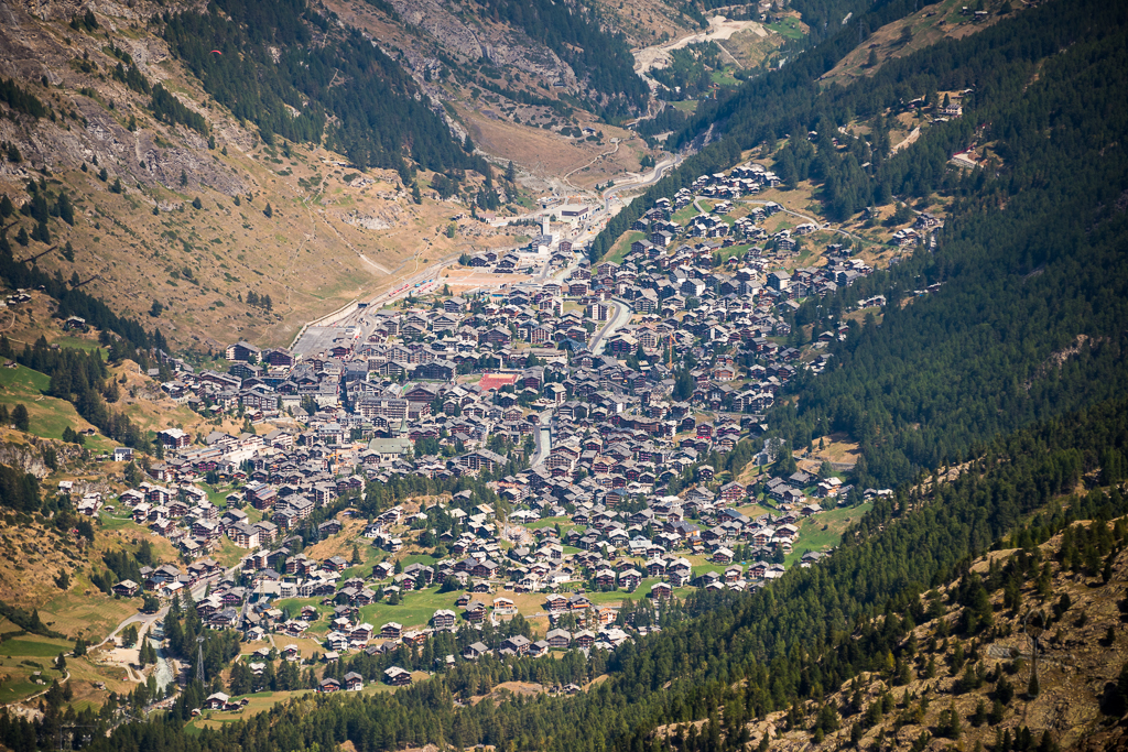 Upclose of Zermatt town