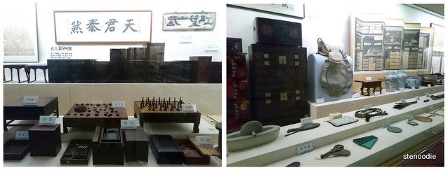 Artifacts inside Seongyojang Museum