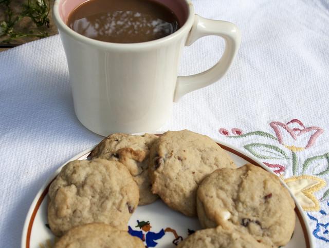 walnut cranberry white chocolate chip cookies