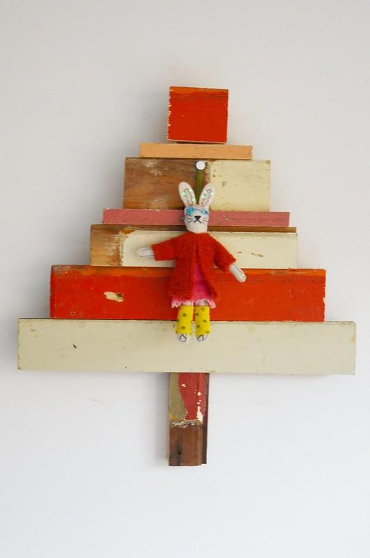 woodwoolstool  x-mas tree