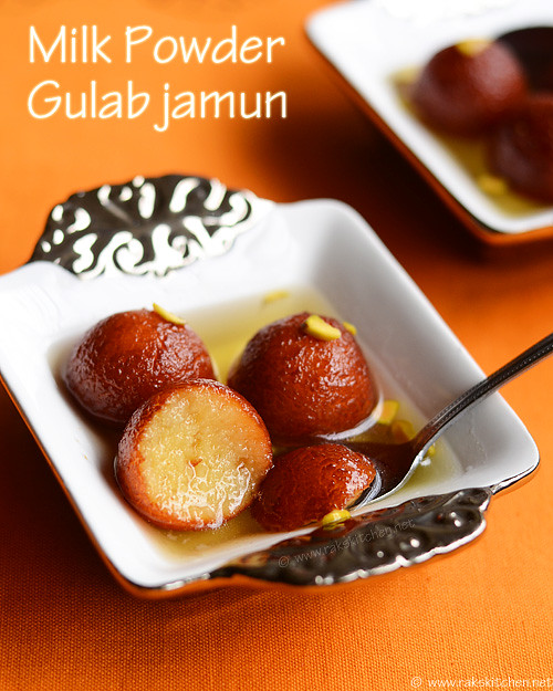 Milk powder gulab jamun recipe diwali sweets raks kitchen milk powder gulab jamun forumfinder