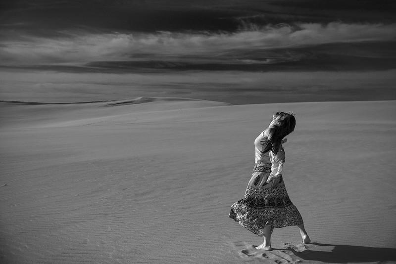 Hot sand dune
