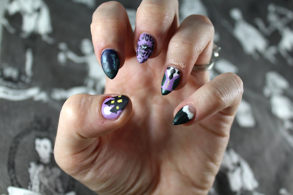 The Haunted Mansion nail art for Halloween