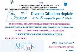 Noicattaro. Certificazioni informatiche Pende front