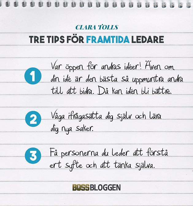 3 Tips Clara Toll