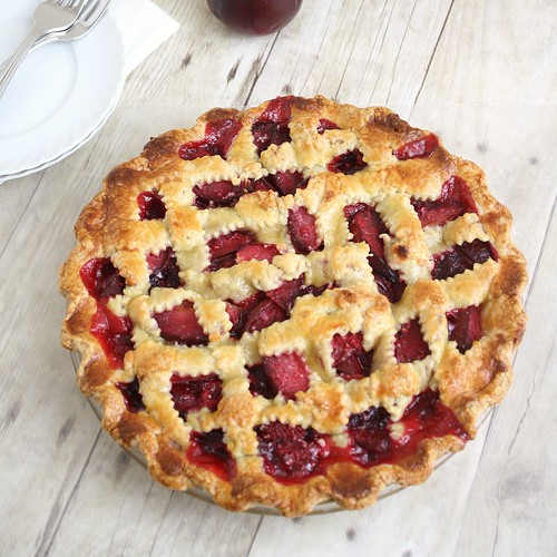 Plum Raspberry Pie | by Tracey's Culinary Adventures