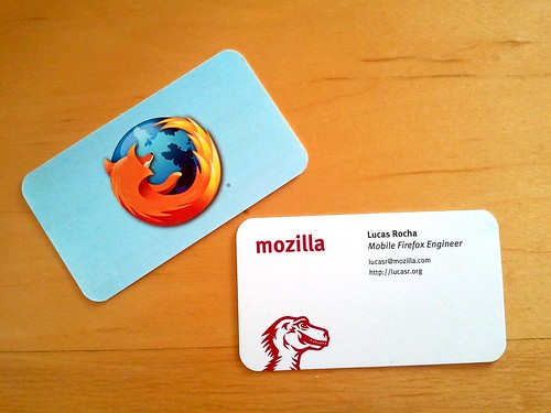 Mozilla Business Cards | by Lucas Rocha