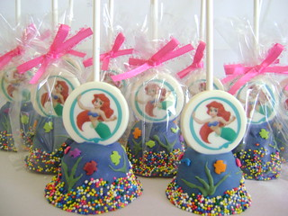 Little Mermaid Ariel Cake Pops | by Cathy (A Twist of Cake)