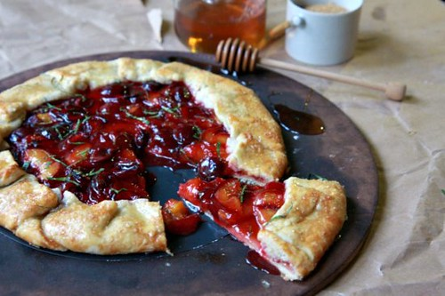 Apricot & Cherry Galette | by The Noshery