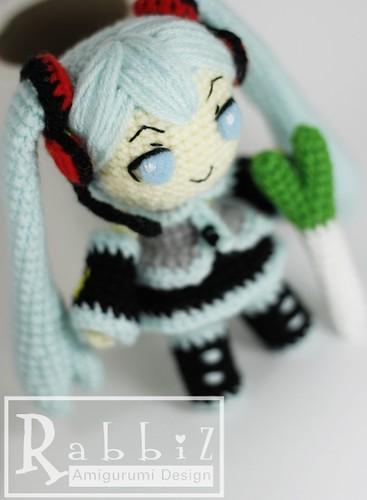 Amigurumi Hatsune Miku with Onion Rabbiz Design Flickr