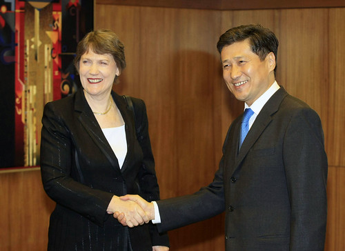 Helen Clark in Mongolia | by United Nations Development Programme