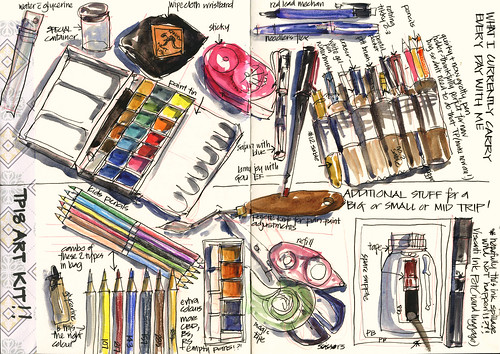 Trip Prep 19 Getting my Art Supplies together | by Liz Steel Art