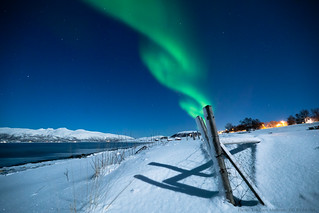 Aurora and moonlight (Explored!) | by Tor Even Mathisen