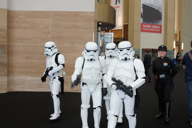Empire BIG SCREEN : The 501st UK Garrison Imperial Stormtroopers harassing anyone they can find at this point