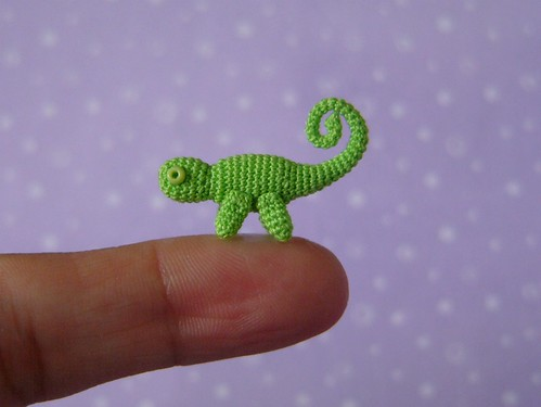 Crochet miniature Chameleon | by MUFFA Miniatures