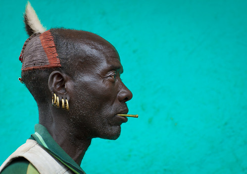 Bana old man with clay headwear - Ethiopia | by Eric Lafforgue