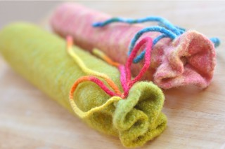 felted flute and recorder bags | by waldorf mama